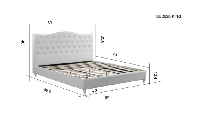 furniture garage vancouver white tuffed bed frame cheap (7)