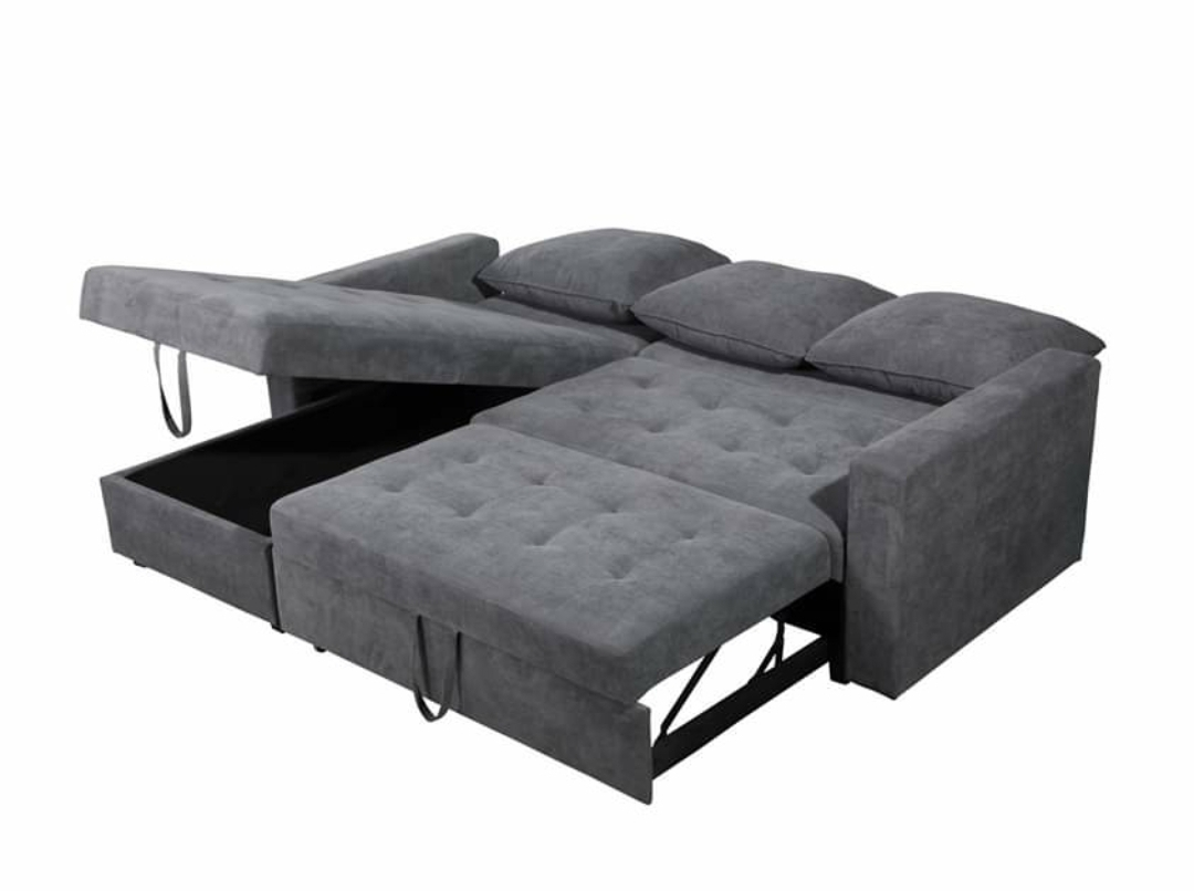 Livi King Size Sectional Sofa Bed Reversible Chaise Ottoman Storage Furniture Garage Store