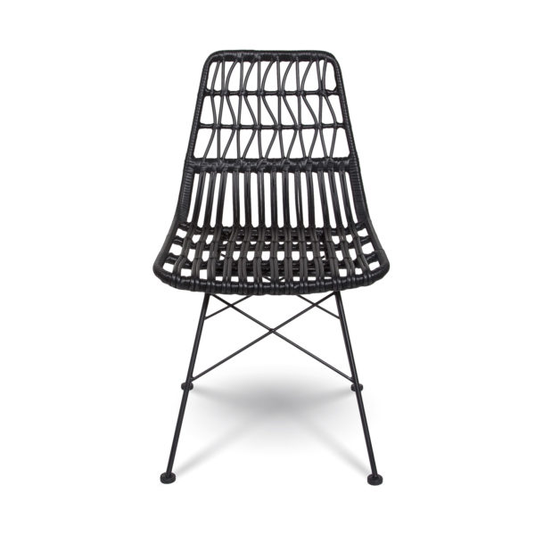 Calabria Mid-century Dining Chair – Black
