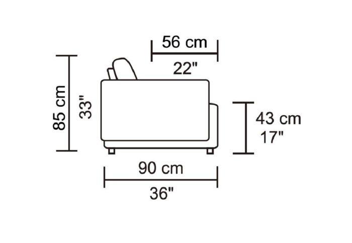 Leggo Sectional Sofa – LHF Chaise