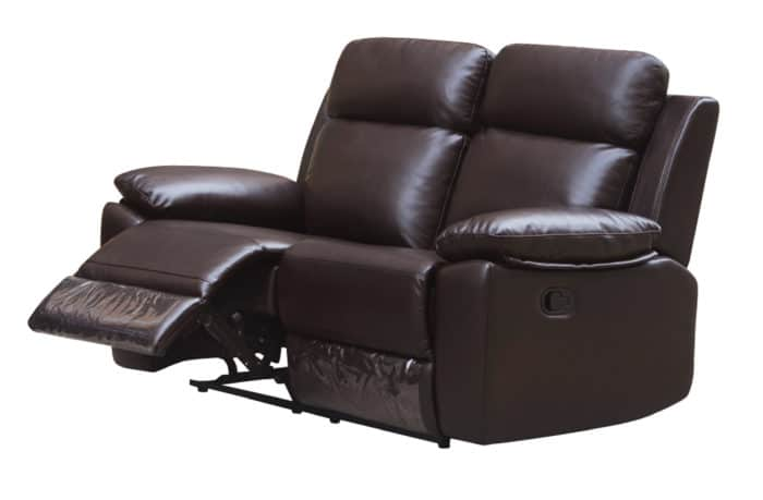 Leo Reclining Loveseat – Leather Air Code # G03 Brown