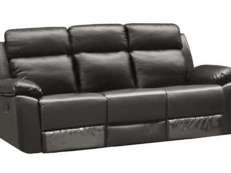 Leo Reclining Sofa – Leather Air Code # G12 Grey