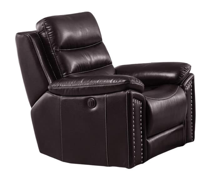 Jetson Reclining/Rocking Chair – Leather Air Code # G03 Brown
