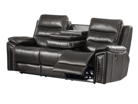 Jetson Reclining Sofa – Leather Air Code # G12 Grey