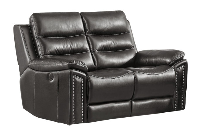 Jetson Power Reclining 3-PC Sofa Set – Leather Air Code # G12 Grey