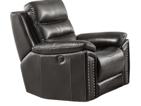 Jetson Power Reclining Chair – Leather Air Code # G12 Grey