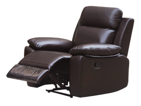 Leo Reclining Chair – Leather Air Code # G03 Brown