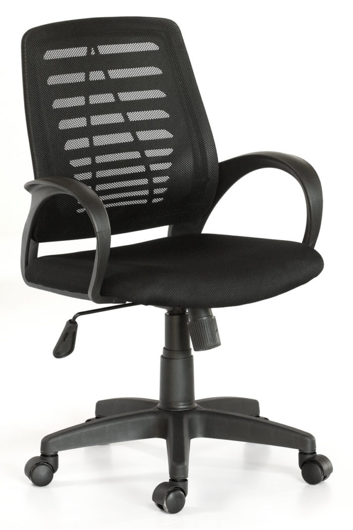 Mid Back Office Chair – Black