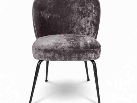 Mid-century Velvet Grey Milo Dining Chair