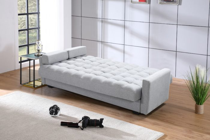 Sara Sofa Bed Convertible 3.in.1 ( Sofa, Bed, Couch & Storage ) – Grey