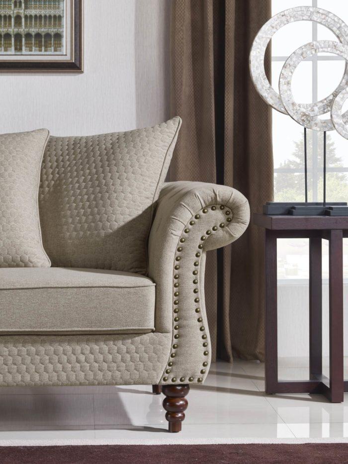 Tessa Designer Loveseat – Fabric Code # K06 Sand