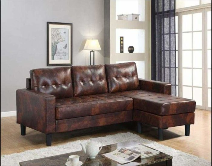 Brown-leather-Sectional