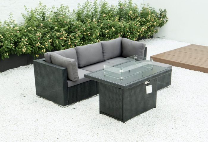4 Piece modular set with fire table