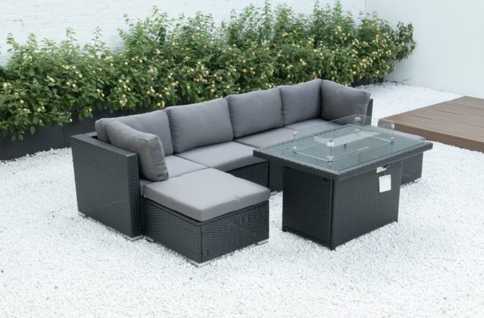 6 Piece modular set with fire table