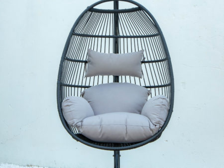 Single folding swing with light grey cushion