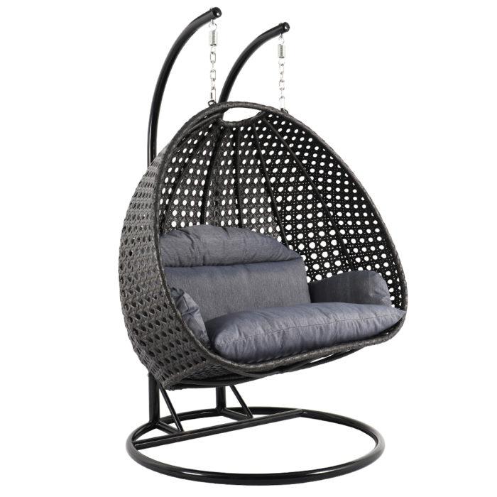 Luxury double wicker swing chair